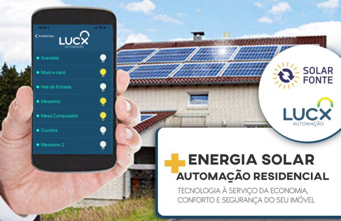 Energia solar + automação residencial = conforto e economia elevada à máxima potência